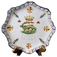Dragon Designed French Classic Hand-Painted Decorated Plate