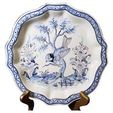 Blue Bird French Ceramic Montagnon Decor Plate