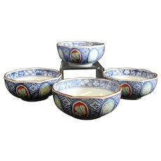 Elegant Group of Decorated Matching Chinese Bowls
