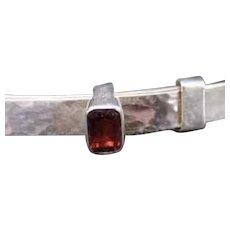 Ed Levin Sterling Silver & Garnet Waltz Bracelet.