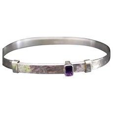 Ed Levin Sterling Silver & Amethyst Waltz Bracelet