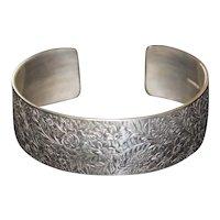 Ed Levin Sterling Silver Victorian Cuff Bracelet