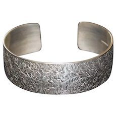 Ed Levin Sterling Silver Victorian Cuff Bracelet