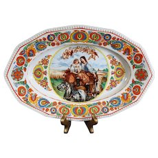 Hutschenreuther - Hand Painted Oval Decorative Plate