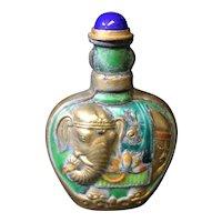 Elephant Decor Snuff or Perfume Bottle