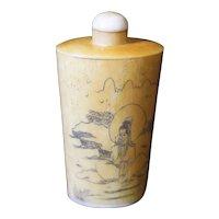 Geisha Designed Medicine, Perfume or Snuff Bottle
