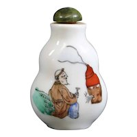 Asian Figures on Snuff or Perfume Bottle