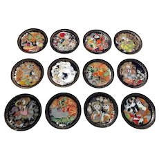 Complete Set of 12 Aladdin and the Magic Lamp Rosenthal Collectors Plates