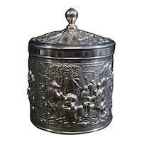 Highly Decorated Canister Dutch Lidded Canister