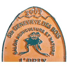 French 2002 Agricultural Show Prize Plaque - 1st Prize