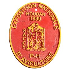 French 1999 Agricultural Show Prize Plaque – Chickens & Poultry