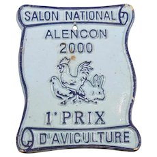 French 2000 Agricultural Show Prize Plaque – 1st Prize – Chickens & Poultry