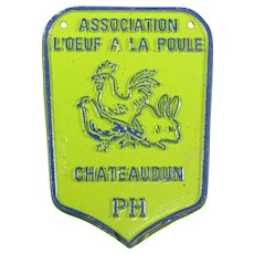 French Agricultural Show Prize Plaque – Chickens & Poultry