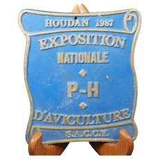 French 1987 Agricultural Show Prize Plaque – Chickens & Poultry