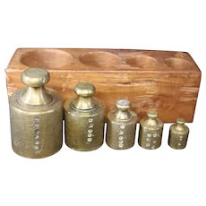 Calibrated Metric Measuring Weights - Set of Five