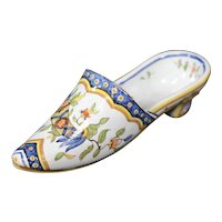 Vieux Rouen - Double Horn Ceramic Decorative Shoe