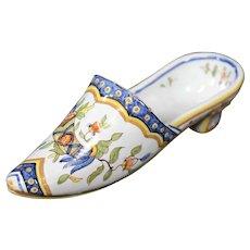 Vieux Rouen - Double Horn Ceramic Decorative Shoe