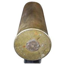 Brass 1943 Mortar Shell or Obus Casing - Second World War - History