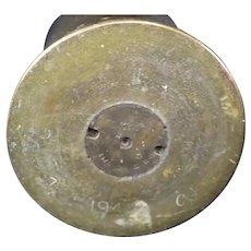 Brass 1944 Mortar Shell or Obus Casing - Second World War - History