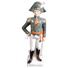 Statue of a French Marshall of the Empire in Dress Uniform - Maréchal d'Empire