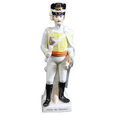 Porcelain Statue of an Officer of the Chasseurs