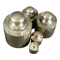 Set of Brass Graduated Metric Scale Weights