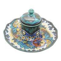 Ceramic Gouda Decorated Covered Candleholder