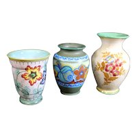 Dutch Ceramic Trio of Vases