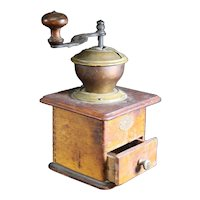 PeDe Metal & Wood Coffee Grinder with Drawer