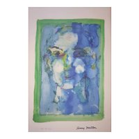 Henry Miller - 1891-1980 - Blue Face - 38/200 Mixed Media Print