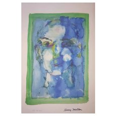 Henry Miller - 1891-1980 - Blue Face SII 38 of 200 - Mixed Media Print