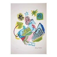 Henry Miller - 1891-1980 - Chagall's Horse - 157 of 200 - Mixed Media Print