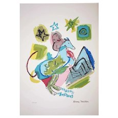 Henry Miller - 1891-1980 - Chagall's Horse - 157/200 - Mixed Media Print
