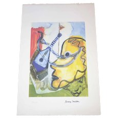 Henry Miller - 1891-1980 - Pablo's Guitar - 137 of 200 - Mixed Media Print