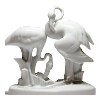 Zsolnay - Pair of Porcelain Flamingo's - András Sinkó