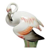 Zsolnay - Solitary Porcelain Flamingo - András Sinkó