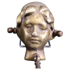 Aged Cherub  Doorknocker - Door Knocker