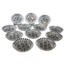 Bohemian Hand Cut Ornate Crystal Coasters