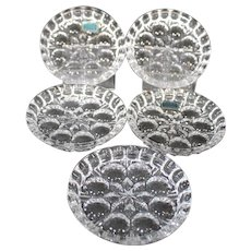 Collection of Seventeen Vintage Czech Crystal Coasters