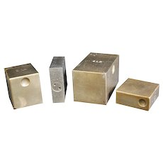 Set of Four Inspection Weights - County Borough of Warrington