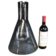 Elegant Oversize Paris Wine Glass Decanter