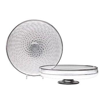 Kenny Pieper - White Cane Art Glass Bowl