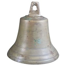 Bronze Cast Classically Shaped Bell With Bomb Shaped Mallet