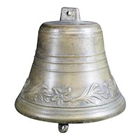 Bronze Cast Classically Shaped Floral Patterned Bell