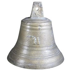 Bronze Cast Classically Shaped Bell Inscribed 14 on Front