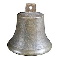 Bronze Cast Classically Shaped Bell Inscribed 14 on Top