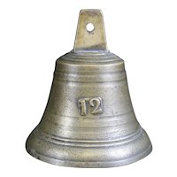 Bronze Cast Classically Shaped Bell Inscribed 12 on Front
