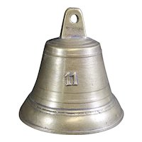 Bronze Cast Classically Shaped Bell with 11 on Front