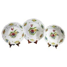 Set of Three Imola Italian Ceramic Plates