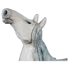 Liz Hansen Rugged Earthenware Donkey or Horse Sculpture